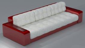 Κόκκινο άσπρο δέρμα καναπέδων Ferrari στοκ φωτογραφίες