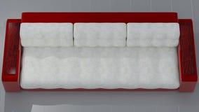 Κόκκινο άσπρο δέρμα καναπέδων Ferrari στοκ εικόνες