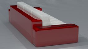 Κόκκινο άσπρο δέρμα καναπέδων Ferrari στοκ εικόνες με δικαίωμα ελεύθερης χρήσης