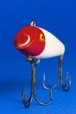 Κόκκινο & άσπρο θέλγητρο αλιείας Στοκ φωτογραφία με δικαίωμα ελεύθερης χρήσης