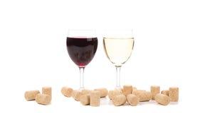 κόκκινο άσπρο κρασί γυαλ&i Στοκ εικόνα με δικαίωμα ελεύθερης χρήσης