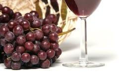 κόκκινο άσπρο κρασί σταφυ Στοκ Φωτογραφίες