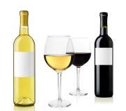 κόκκινο άσπρο κρασί Στοκ φωτογραφία με δικαίωμα ελεύθερης χρήσης