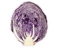 Κόκκινο λάχανο που τεμαχίζεται που απομονώνεται στο άσπρο υπόβαθρο στοκ φωτογραφίες