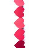 Κόκκινο έγγραφο καρδιών Στοκ Εικόνες