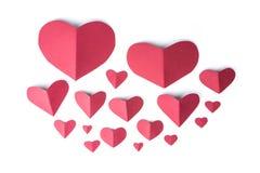 Κόκκινο έγγραφο καρδιών Στοκ Φωτογραφίες