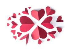 Κόκκινο έγγραφο καρδιών Στοκ εικόνα με δικαίωμα ελεύθερης χρήσης