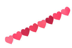 Κόκκινο έγγραφο καρδιών Στοκ Φωτογραφία