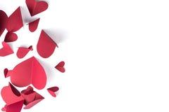 Κόκκινο έγγραφο καρδιών Στοκ εικόνες με δικαίωμα ελεύθερης χρήσης