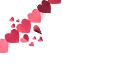 Κόκκινο έγγραφο καρδιών Στοκ φωτογραφίες με δικαίωμα ελεύθερης χρήσης