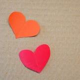 Κόκκινο έγγραφο στη μορφή καρδιών Στοκ εικόνα με δικαίωμα ελεύθερης χρήσης