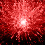 κόκκινο έκρηξης κρυστάλλ&o Στοκ Εικόνες