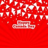 Κόκκινο έμβλημα ημέρας του Καναδά Στοκ Εικόνα