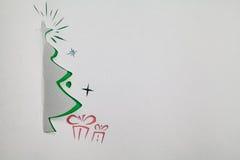 κόκκινο δέντρο εγγράφου απεικόνισης Χριστουγέννων ανασκόπησης Στοκ εικόνα με δικαίωμα ελεύθερης χρήσης