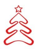 Κόκκινο δέντρο Χριστουγέννων Απεικόνιση αποθεμάτων