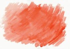 Κόκκινο ή ερυθρό οριζόντιο συρμένο χέρι υπόβαθρο κλίσης watercolor Αυτό ` s χρήσιμο για το γραφικό σχέδιο, σκηνικά, τυπωμένες ύλε στοκ φωτογραφία
