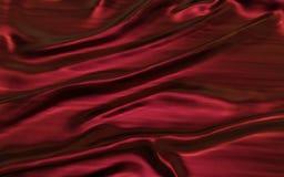 Κόκκινο ή πορφυρό αφηρημένο υπόβαθρο υφασμάτων σατέν Στοκ Εικόνα