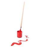 κόκκινο ίχνος πινέλων ελα& Στοκ φωτογραφία με δικαίωμα ελεύθερης χρήσης