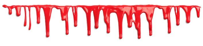 Κόκκινο αίμα όπως το στάλαγμα χρωμάτων που απομονώνεται ελεύθερη απεικόνιση δικαιώματος
