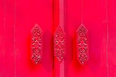 κόκκινο λαβών πορτών Στοκ εικόνες με δικαίωμα ελεύθερης χρήσης