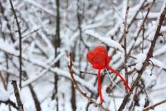 κόκκινο αγάπης καρδιών Στοκ Εικόνες