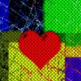 κόκκινο αγάπης καρδιών Στοκ εικόνα με δικαίωμα ελεύθερης χρήσης