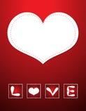 κόκκινο αγάπης καρτών Στοκ εικόνα με δικαίωμα ελεύθερης χρήσης