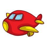 Κόκκινο αεροπλάνο κινούμενων σχεδίων για το σχέδιο παιδιών Στοκ Εικόνα