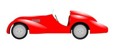 Κόκκινο αθλητικό αυτοκίνητο Στοκ Εικόνες