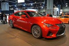 Κόκκινο αθλητικό αυτοκίνητο Lexus RC Φ Στοκ Φωτογραφία
