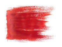 Κόκκινο ακρυλικό κτύπημα χρωμάτων που απομονώνεται στο άσπρο υπόβαθρο ελεύθερη απεικόνιση δικαιώματος