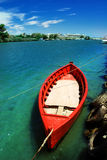 κόκκινο αλιείας βαρκών στοκ φωτογραφία με δικαίωμα ελεύθερης χρήσης