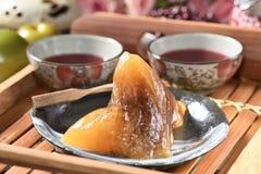 Κόκκινο αλκαλικό zongzi φασολιών στοκ φωτογραφίες