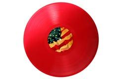 κόκκινο αμερικανικό βινύ&lambda Στοκ Εικόνες