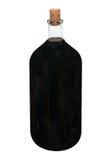 κόκκινο αναδρομικό κρασί μπουκαλιών Στοκ Φωτογραφία