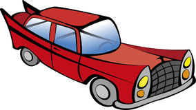 Κόκκινο αναδρομικό αυτοκίνητο Στοκ Εικόνες