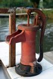 κόκκινο αντλιών ψαριών καθαρισμού Στοκ Εικόνες