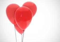 κόκκινο απεικόνισης καρδιών κινούμενων σχεδίων μπαλονιών Στοκ φωτογραφία με δικαίωμα ελεύθερης χρήσης