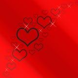 κόκκινο ασήμι καρδιών ανασκόπησης Στοκ φωτογραφία με δικαίωμα ελεύθερης χρήσης