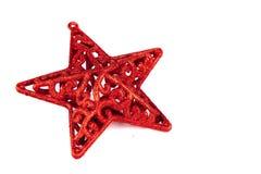 Κόκκινο αστέρι για τα Χριστούγεννα Στοκ Φωτογραφίες