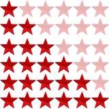 κόκκινο αστέρι εκτίμησης στοκ φωτογραφία