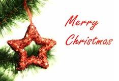Κόκκινο αστέρι διακοσμήσεων Χριστουγέννων Στοκ Εικόνες