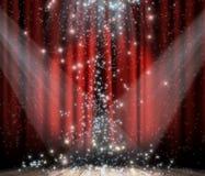 κόκκινο αστέρι κουρτινών Στοκ φωτογραφία με δικαίωμα ελεύθερης χρήσης