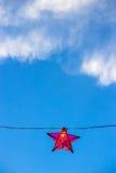 Κόκκινο αστέρι φαναριών Στοκ Εικόνα