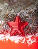 Κόκκινο αστέρι Χριστουγέννων Στοκ φωτογραφία με δικαίωμα ελεύθερης χρήσης