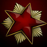 κόκκινο αστέρι στοκ εικόνα με δικαίωμα ελεύθερης χρήσης