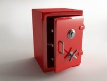Κόκκινο ασφαλής-κιβώτιο μετάλλων Στοκ εικόνα με δικαίωμα ελεύθερης χρήσης
