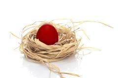 κόκκινο αυγών Πάσχας Στοκ Εικόνες