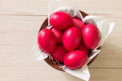 κόκκινο αυγών Πάσχας Στοκ φωτογραφίες με δικαίωμα ελεύθερης χρήσης