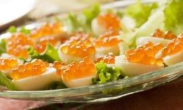 κόκκινο αυγών χαβιαριών Στοκ εικόνες με δικαίωμα ελεύθερης χρήσης